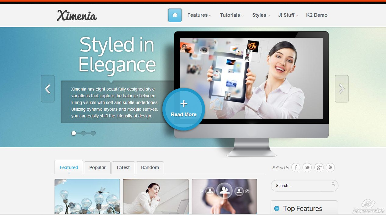 use of images web design trends Joomla Templates